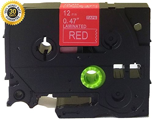 NEOUZA Colorful White Print Label Tape Compatible for Brother P-Touch TZ TZe Laminated 1/2 x 26.2 12mm x 8m (White on Red TZe-435)
