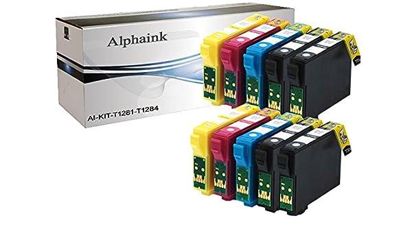 alphaink ai-t1285 Kit 10 Cartuchos Compatible para Epson Stylus ...