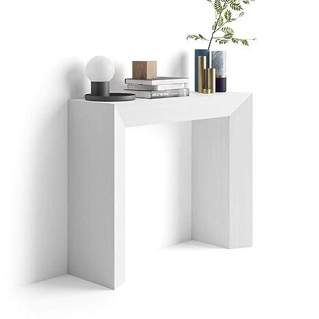 Consolle Ingresso Arredamento.Mobili Fiver Giuditta Consolle Ingresso Frassino Bianco 90x30x75 Cm