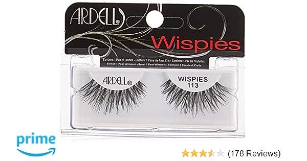 bef4a12ab99 Amazon.com : Ardell Fashion Lashes Pair - 113 (Pack of 4) : Fake Eyelashes  And Adhesives : Beauty