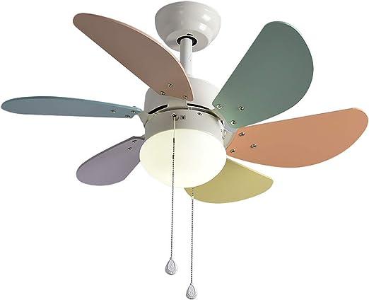 XGBIN Luz Moderna para Ventilador de Techo de 6 aspas, araña de ...