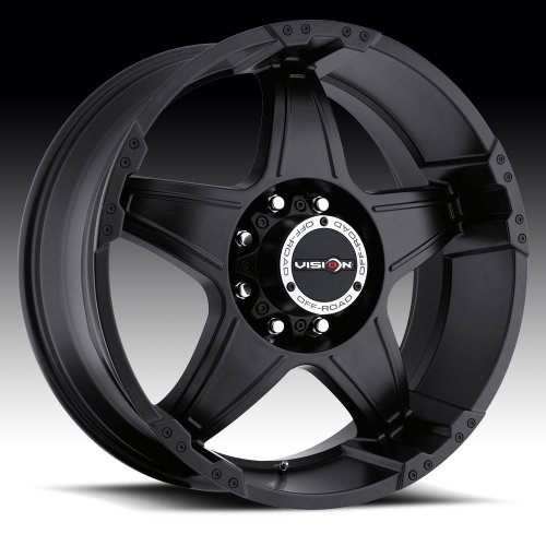 V-TEC Warlord 394 Matte Black Machined Face Rear Wheel with Chrome Bolts (20x9