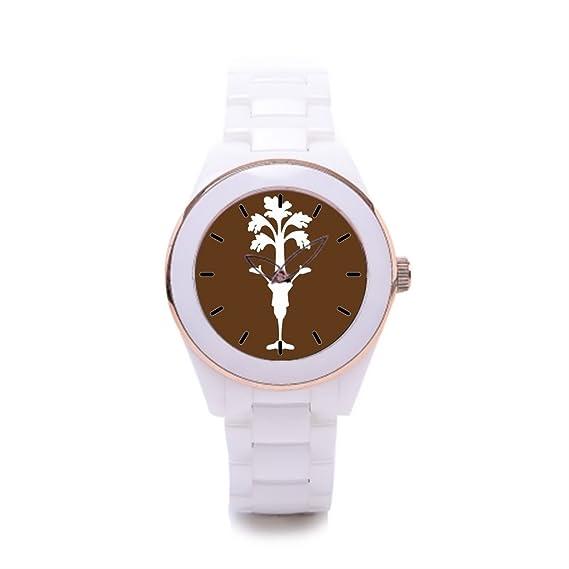 Queensland comprar relojes en línea cuadrada relojes de cerámica de lujo Fashion: Amazon.es: Relojes
