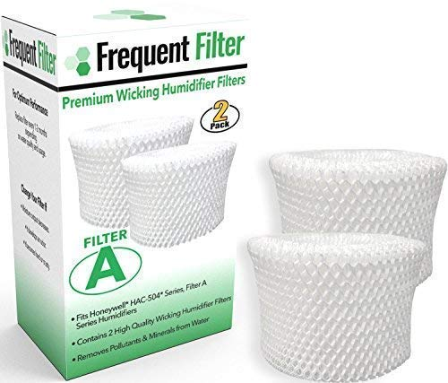 Price comparison product image Frequent Filter - Compatible Honeywell Germ Free Cool Mist Wicking Humidifier,  Filter A. Fits HCM 350,  HCM350w,  HCM350,  Quietcare More. Replacement HAC 504,  HAC504,  504AW - (Pack of 2)