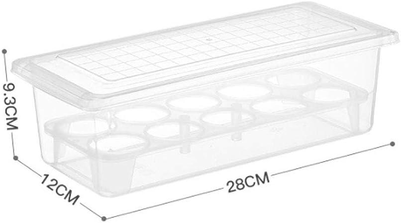 Xiaoqin Recipiente para Huevos, 10 contenedores refrigerados para Huevos con Tapa, Estuche portátil de plástico para Huevo - Proteja y Mantenga Fresca la Bandeja de Huevos Grande y apilable: Amazon.es: Hogar