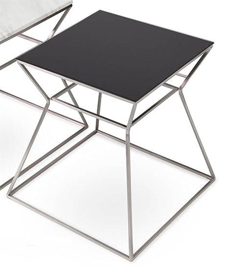 Amazoncom Soho Concept Square End Table In Black Black Glass