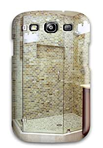 HaIlQzu22746tJxSf Glass Enclosed Tiled Shower With Pebble Tile Floor Awesome High Quality Galaxy S3 Case Skin
