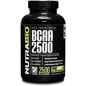 NutraBio BCAA 2500 (150 Capsules)