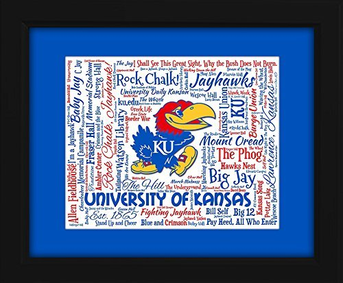 University of Kansas 16x20 Art Piece - Beautifully matted and framed behind glass