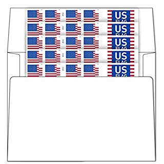 Business Envelopes with 2018 Flag Stamps Postage (Sheet of 100)