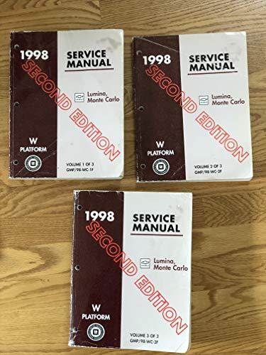 1998 W-platform Chevrolet Lumina, Monte Carlo Service Manual (2nd Edition 3 Volume Set)