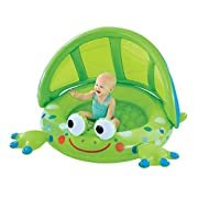Early Leaning Centre Frog Baby Shade Pool – Padded Base and Inflatable Shade Wall – Great First Pool for Baby – For Indoor and Outdoor Use – Ages 12 Months and Up
