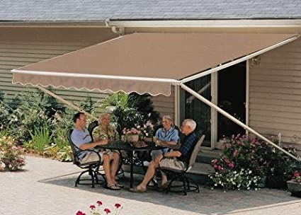 Amazon Com 12ft Taupe 1000xt Retractable Awning Television