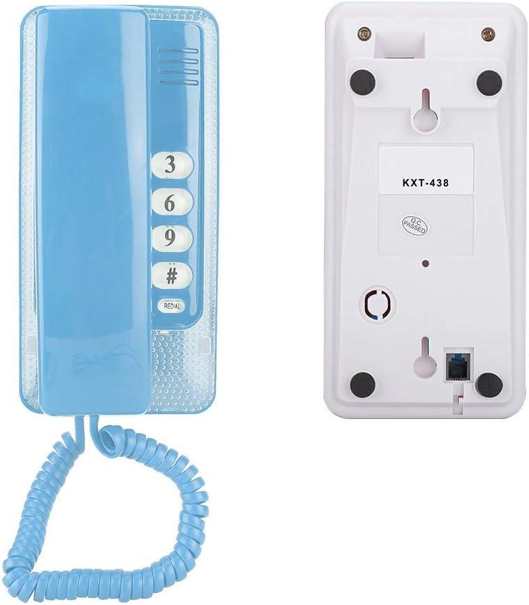 rot Diyeeni Mini-Wandtelefon mit Telefonanschluss f/ür die Hotelfamilienschule RJ45-Schnittstelle an der Wand montierbares Retro-Festnetztelefon mit Flash-Funktion und Anrufstummschaltung