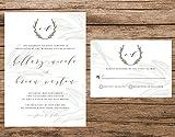 Rustic Tuscan Wedding Invitation, Watercolor Olive Branches, Vineyard Wedding