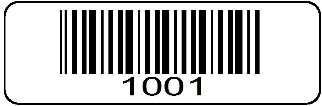 1000 Label Roll, 1001 Through 2000 Pre Printed Serial Number Barcodes  1-1/2