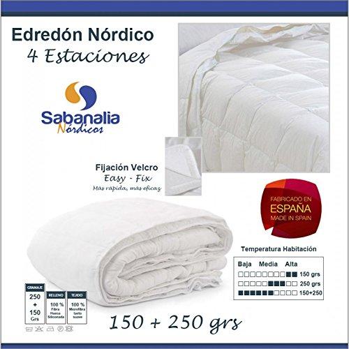 SABANALIA - Edredón nórdico dúo, Fibra, 4 Estaciones (Varios tamaños Disponibles),
