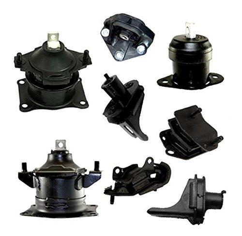 For 04-06 Acura TL 3.2L Engine Motor & Trans. Mount Full Set 8PCS Auto 4526 4544 4566 4591 4599 65020 65002 65025 M1073 04 05 - Tl Set Acura