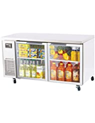 Turbo Air JUR60G 15 cu. ft. J Series Undercounter Refrigerator with Efficient Refrigeration System Side Mount Compressor Adjustable Shelves and High Density PU Insulation: Stainless