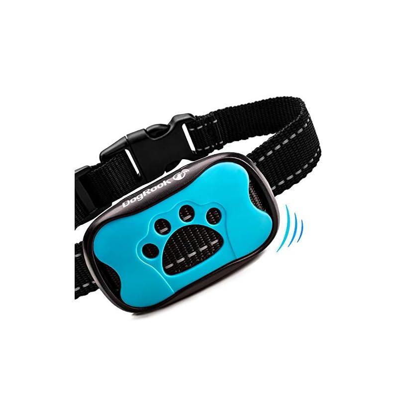 dog supplies online dogrook dog bark collar- humane anti barking training collar - vibration no shock dog collar - stop barking collar for small medium large dogs - best no barking dog collar