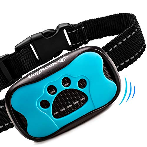 DogRook Dog Bark Collar- Humane Anti Barking Training Collar - Vibration No Shock Dog Collar - Stop Barking Collar for Small Medium Large Dogs - Best No Barking Dog Collar