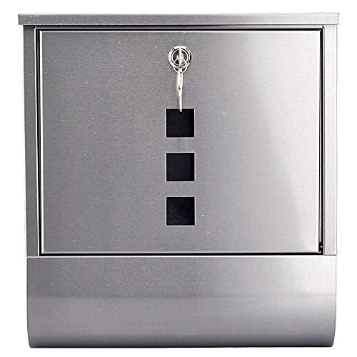 Residential Home Garden Fence Wall Mounted Mailbox Mail Box Simple Postbox Stainless Steel with Newspaper (Mailboxes Fence Mount)
