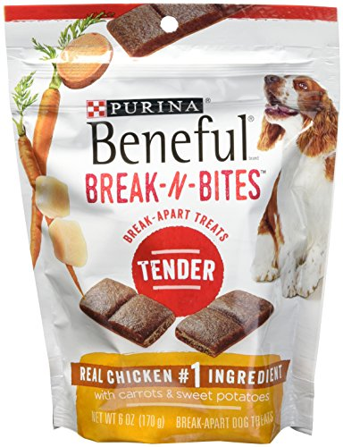 Purina Beneful Break-N-Bites Tender Real Chicken #1 With Carrots & Sweet Potatoes( Net WT 6OZ)