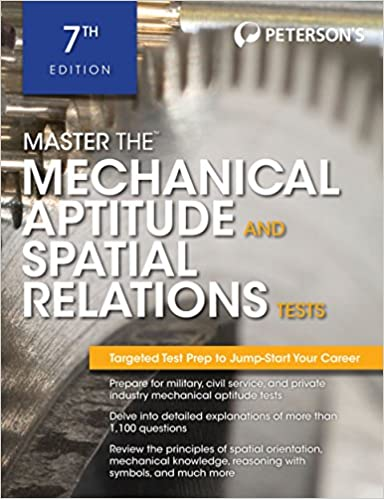 Master the mechanical aptitude and spatial relations test master the mechanical aptitude and spatial relations test petersons master the mechanical aptitude spatial tests petersons 9780768928631 fandeluxe Gallery