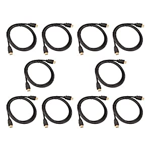 (10 Pack) High Speed Premium Quality HDMI Male to HDMI Male Cable - 3 Feet