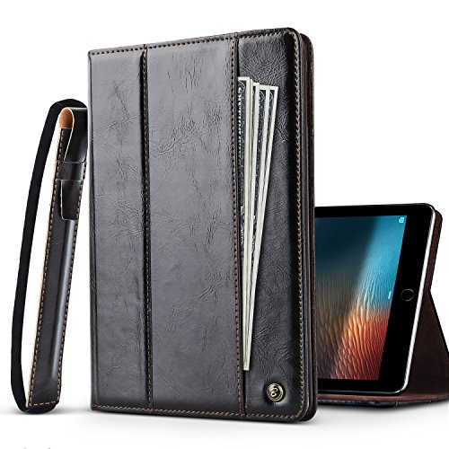 Ipad 9 7  2017  Case   Belk  Document Pocket  Business Leather Portfolio Smart Auto Sleep Wake Stand Folio Cover Case W  Elastic Strap S Pen Holder For 2017 Release 9 7 Inch Ipad  Black