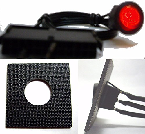 - Red ATX 24-Pin PSU Power Supply Bridge Jumper On/Off Switch (Lighted) For 24/20 Pin PSU Connector