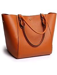 Fashion Waterproof Shoulder Bag Synthetic Leather Handbag Women Girls Large Tote Purse