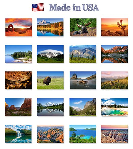 59% Post (59 US NATIONAL PARKS postcard set of 59 postcards. All 59 United States national parks post card pack. Made in USA.)