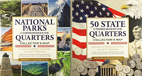 Peter Pauper Press Quarters Collector's Maps Value Pack (Set of 2)