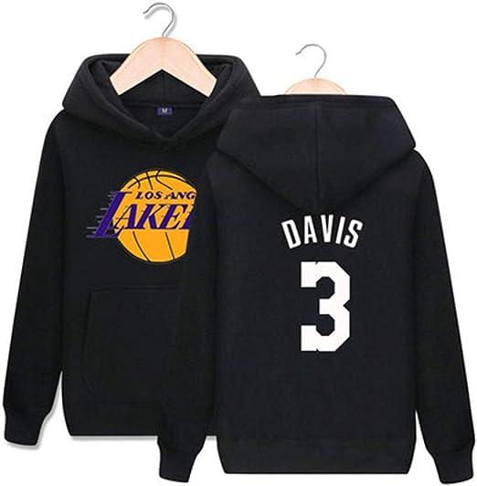 CCKWX Los Angeles Lakers # 3 Sudadera con Capucha De Baloncesto ...