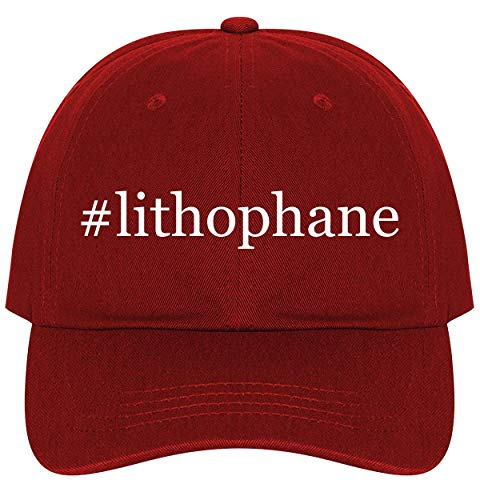 #Lithophane - A Nice Comfortable Adjustable Hashtag Dad Hat Cap, Red ()