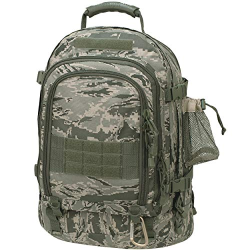 Air Force Backpacks - Mercury Tactical Gear Code Alpha TAC PAC Expandable 3-Day Backpack with Hydrapak 3L Hydration System, Air Force Digital Camouflage