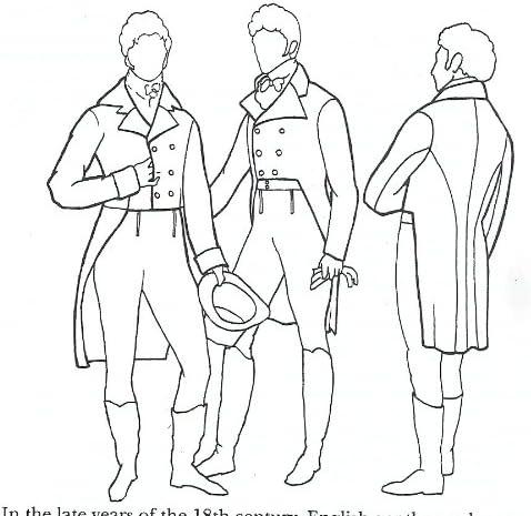 1795 – 1820 de hombre Frac patrón: Amazon.es: Juguetes y juegos