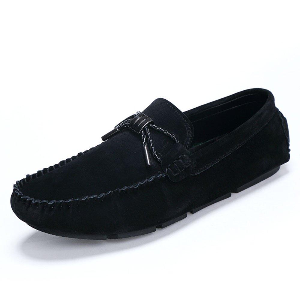 AFCITY Fahren Sommer Männer Weichen Boden Fahren AFCITY Schuhe Breathable Casual Lederschuhe Klassischer Stiefelschuh (Farbe : Grau, Größe : 42 2/3 EU) Schwarz 14ec42