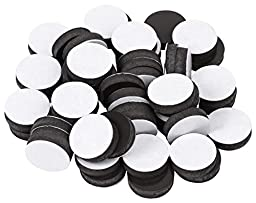 BYKES 3/4 x 3/16- Inch Diameter Flexible Self Adhesive Magnets 54 count