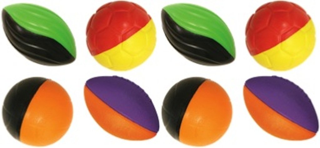JA-RU Air Foam Sport Ball Party Favor Bundle Pack