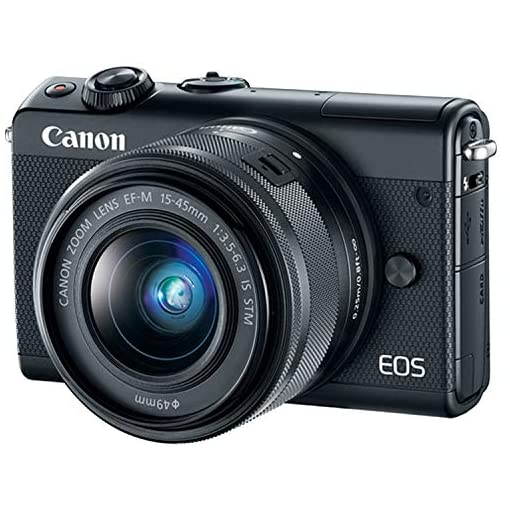 Canon EOS M100 Mirrorless Digital Camera with 15-45mm Lens (Black)+ 32GB Memory Bundle (14pc) Amazon choices [tag]