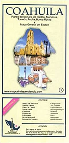 Monclova Mexico Map.Coahuila Mexico State And Major Cities Map Spanish Edition