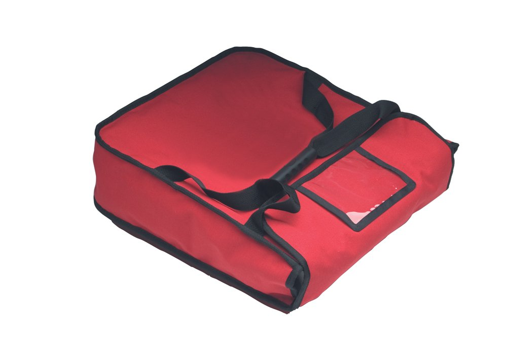 RediHEAT HP102 Heated Pizza Delivery System, 18'' 2-Pie Bag, 19.5'' Length x 19.5'' Width x 5'' Height, Red