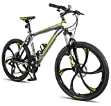 Merax Finiss 26' Aluminum 21 Speed Mg Alloy Wheel Mountain Bike (Stylish. Black)