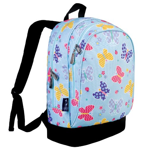 15 Inch Backpack, Olive Kids by Wildkin Extra Durable 15 Inch Backpack with Padded Straps and Interior Moisture-Resistant Lining, Perfect for School or Travel – Butterfly Garden