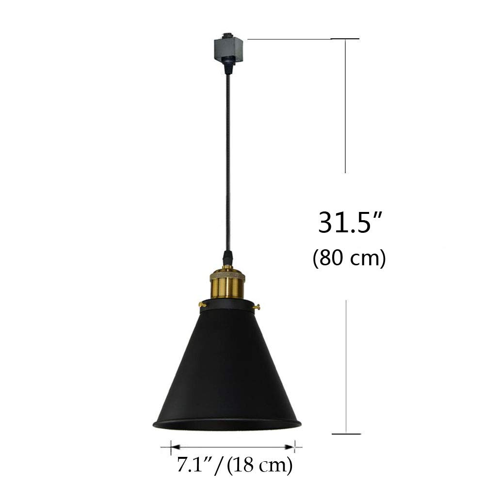 Kiven H-Type Track Lignting Pendant Antique Industrial Oil Rubbed Bronze Pendant Light 3 Pack,TB0132-B-80CM by Kiven (Image #3)