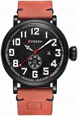 5ffcfa9b12de Men Watches Genuine Leather Strap Men s Wristwatch Display Week Date Quartz-Watch  Fashion Business (