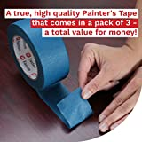 XFasten Professional Blue Painters Tape 2-Inches x