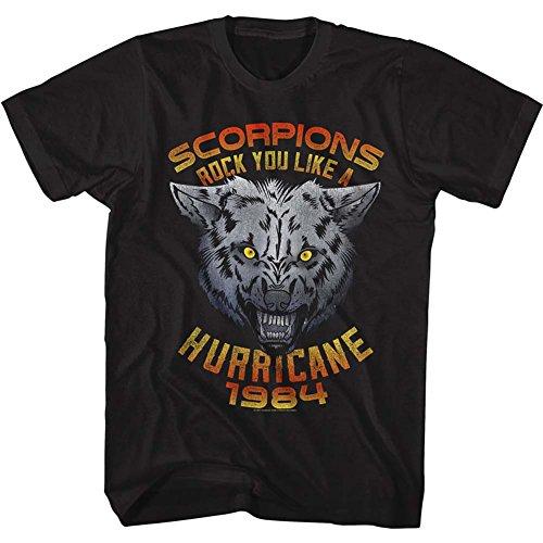 Scorpions Tall T-Shirt Rock You Like a Hurricane Wolf Black